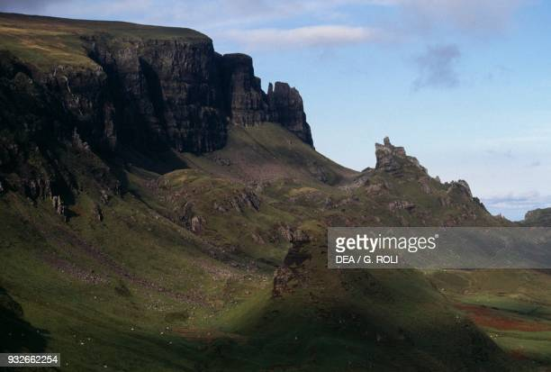 Quiraing massif Isle of Skye Hebrides Scotland United Kingdom