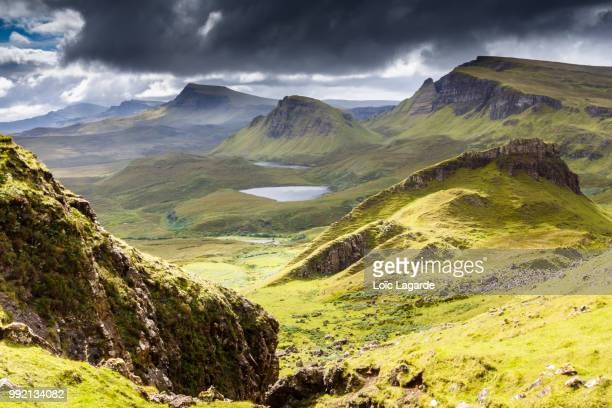 quiraing on isle of skye in scotland - lagarde stock pictures, royalty-free photos & images