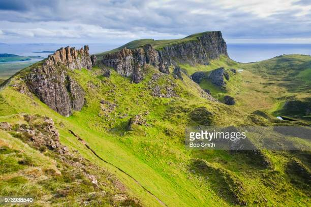 quiraing, skye - escarpment stock pictures, royalty-free photos & images