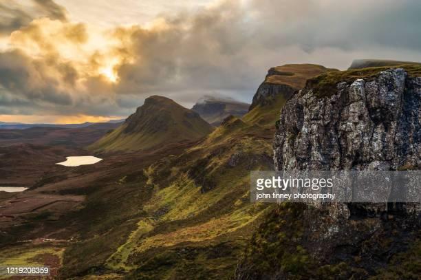 quiraing sunrise, isle of skye, scotland - ポートリー ストックフォトと画像