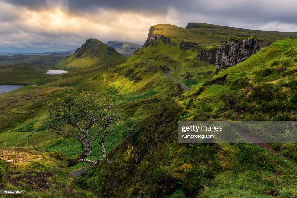 Quiraing View point , Isle of skye : Stock Photo