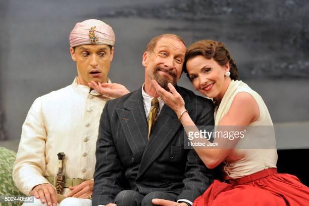 Quirijn de Lang as Selim Geoffrey Dolton as Don Geronio and Sarah Tynan as Fiorilla in Garsington Opera's production of Gioachino Rossini's Il 'Turco...