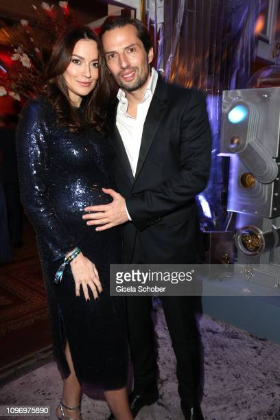 Quirin Berg and his girlfriend Kara Hecker during the PLACE TO B Berlinale party of BILD at Borchardt Restaurant on February 9 2019 in Berlin Germany