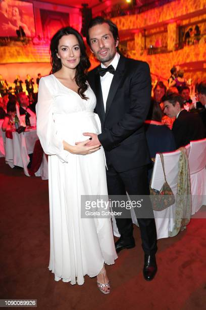 Quirin Berg and his girlfriend Kara Hecker pregnant during the 46th German Film Ball party at Hotel Bayerischer Hof on January 26 2019 in Munich...