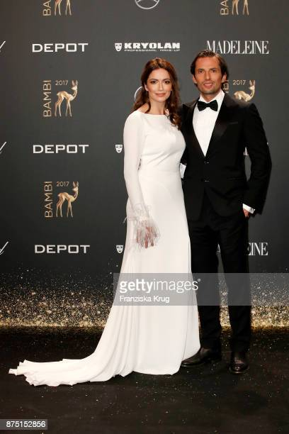Quirin Berg and his girlfriend KaraAnn Hecker arrive at the Bambi Awards 2017 at Stage Theater on November 16 2017 in Berlin Germany