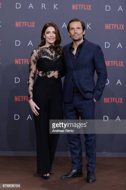 Quirin Berg and his girlfriend KaraAnn Hecker attend the premiere of the first German Netflix series 'Dark' at Zoo Palast on November 20 2017 in...