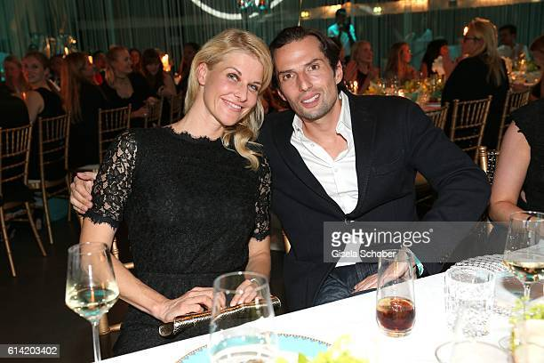 Quirin Berg and his girlfriend Natascha Gruen during the 5th anniversary of Westwing on October 12 2016 in Munich Germany