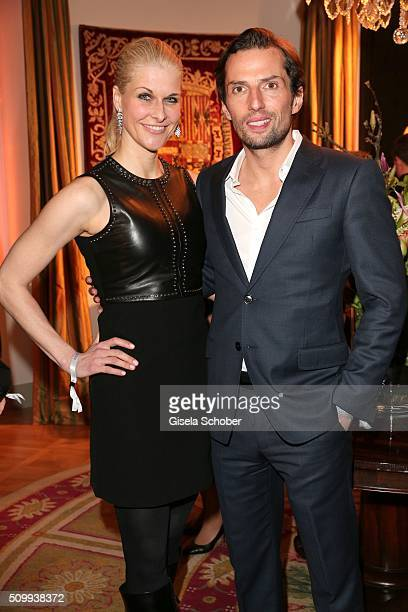 Quirin Berg and his girlfriend Natascha Gruen during the Bunte and BMW Festival Night 2016 during the 66th Berlinale International Film Festival...