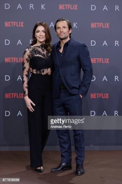 Quirin Berg and KaraAnn Hecker attend the premiere of the first German Netflix series 'Dark' at Zoo Palast on November 20 2017 in Berlin Germany