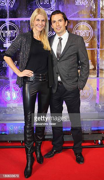 Quirin Berg and Nathascha Gruen attend 'Games of Thrones' Preview Event of TNT Serie and Sky at Hotel Bayerischer Hof on October 27, 2011 in Munich,...