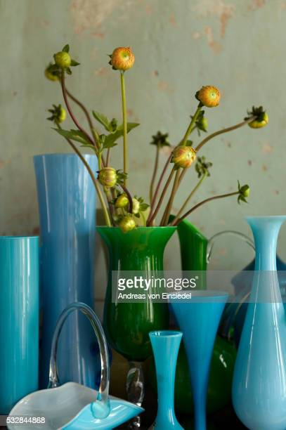 Vintage Green Glass Vases Stock Photos And Pictures Getty Images