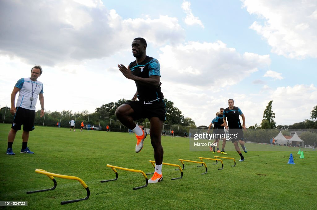 Quissanga Bastos of SS Lazio during the SS Lazio training session on August 10, 2018 in Marienfeld, Germany.