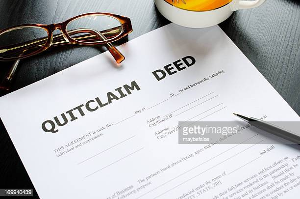 quitclaim deed - deed stock photos and pictures