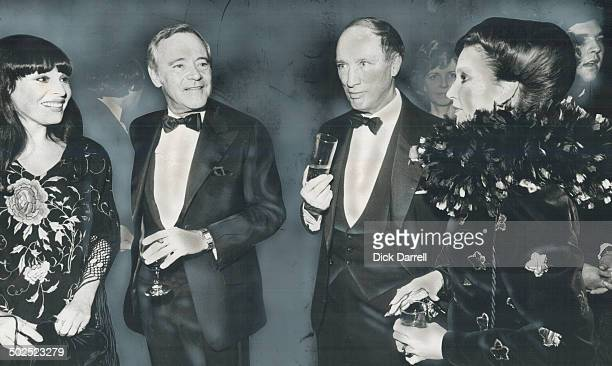 Quite a night Actress Gale Garnett Tribute's star Jack Lemmon Prime Minister Pierre Trudeau and Mrs Katherine Robarts chairman of the committee that...