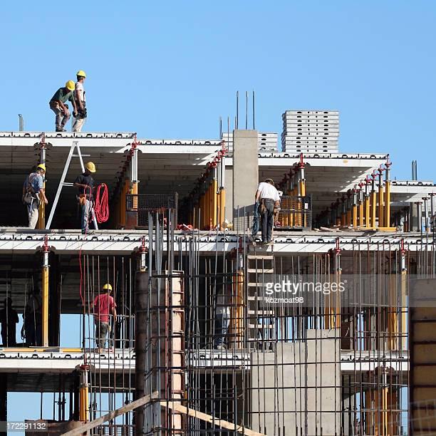 Quiting Zeitpunkt für Arbeiter auf der Baustelle hoher Leibhöhe