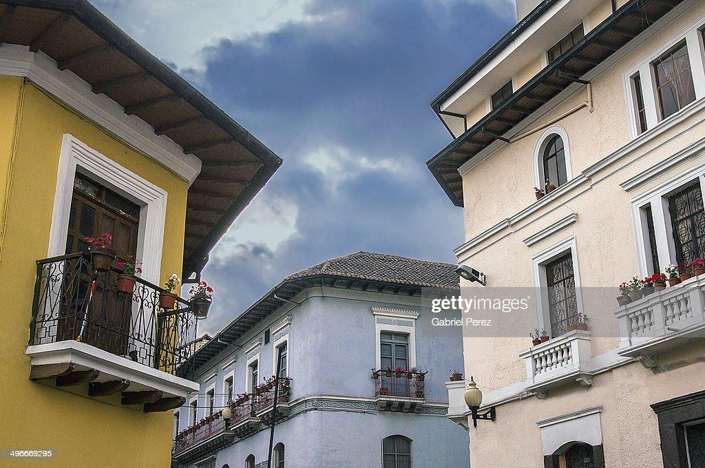 Quito Ecuador Colonial Architecture Stock Photo Getty Images