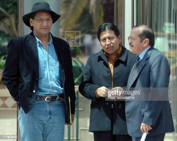 El canciller de Bolivia, David Choquehuanca , llega el 04 de setiembre de 2006 a Quito en una visita de trabajo, durante la cual analizara con...