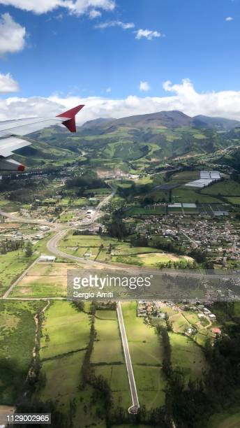 Quito from a plane window