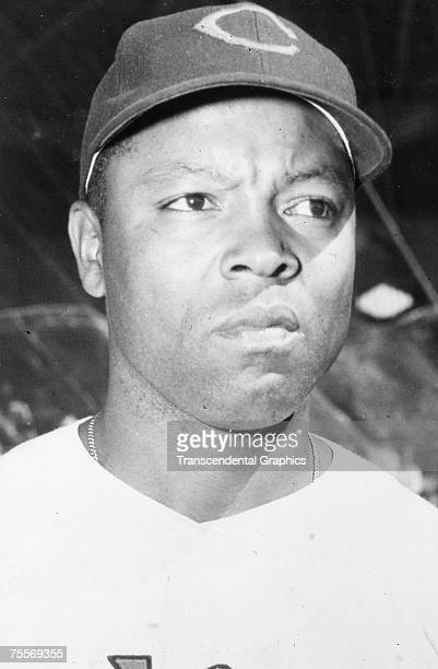Qunicy Trouppe, Negro League catcher, poses in his Cleveland Indians uniform during the one season he spent in the major leagues in 1952.