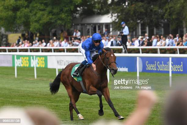 Quorto ridden by William Buick wins the bet365 Superlative Stakes during day three of The Moet Chandon July Festival at Newmarket Racecourse