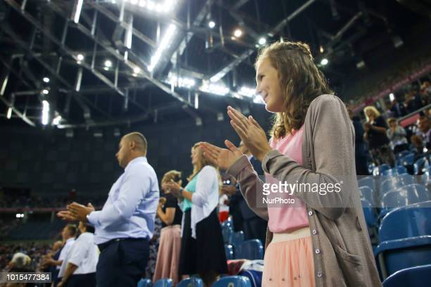 quotBe Courageousquot Convention of Jehovahs Witnesses in Tauron Arena in Krakow Poland on 11 August 2018 About 7650 believers attended the...