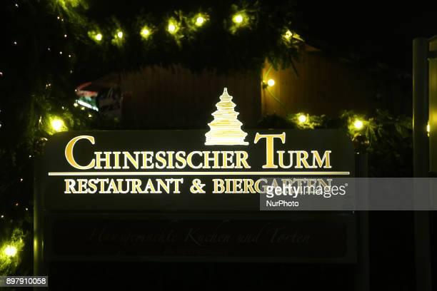 quotChinesischer Turmquot restaurant and beergarten in Munich on December 23 2017