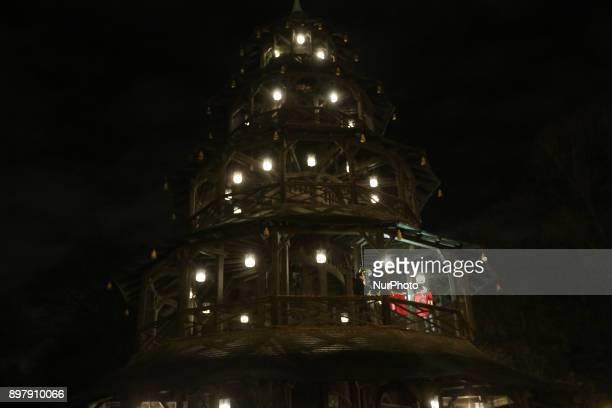 quotCinesischer Turmquot Last Day of the Christmas Market at quotChinesischer Turmquot in Munich on December 23 2017