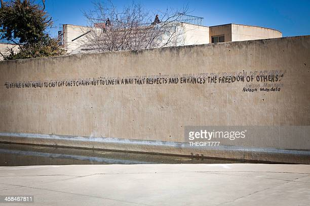 quote from nelson mandela at apartheid museum - apartheid museum stock pictures, royalty-free photos & images