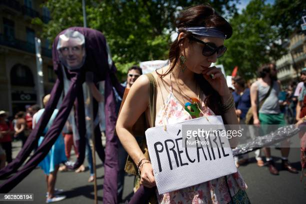 A quotmaree populairequot demonstration was called by more than 60 political organisations associations and unions to protest against French...