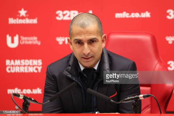 quotNottingham Forest manager Sabri Lamouchi speaks to the press after the Sky Bet Championship match between Middlesbrough and Nottingham Forest at...
