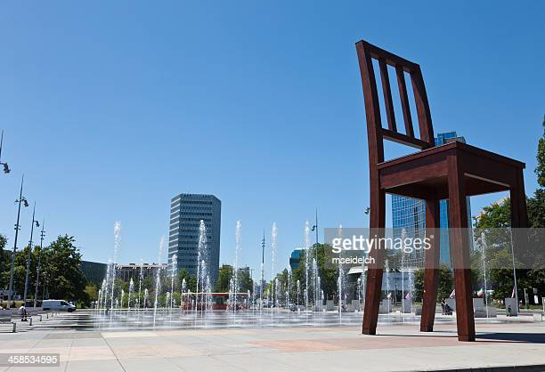 """Place des Nations unies"" in Geneva, Switzerland, with Anti-Landmine Chair"