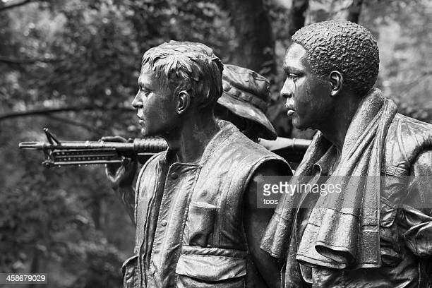 """the three soldiers"", vietnam veterans memorial, washington dc - vietnam veterans memorial stock photos and pictures"