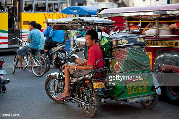 """tricycle"" in metro manila - makati stock photos and pictures"