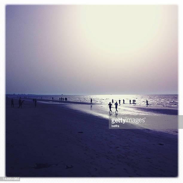 Qurum beach at sunset