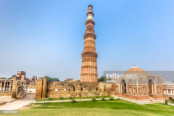 qutub minar delhi india - monument stock pictures, royalty-free photos & images