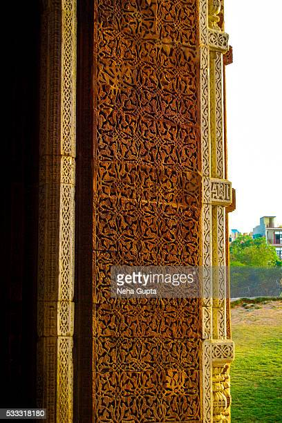 qutub minar - neha gupta stock pictures, royalty-free photos & images