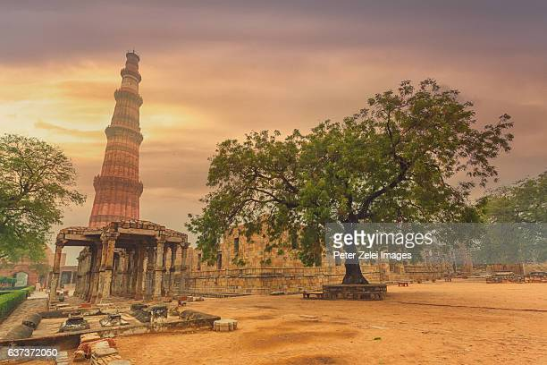 Qutub Minar the tallest brick minaret in the world in Delhi, India