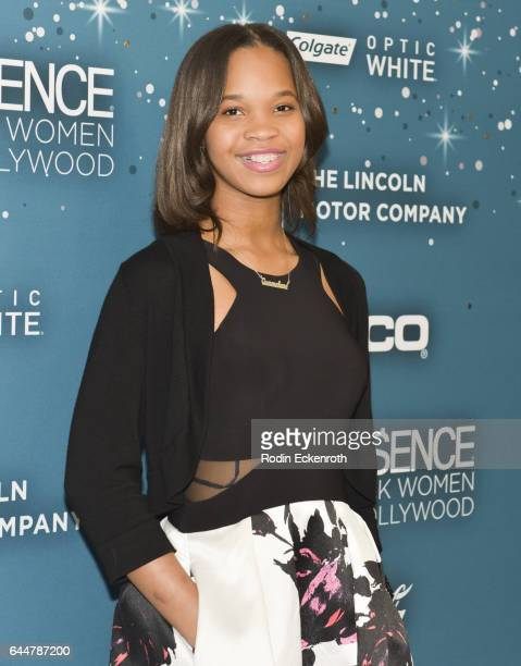 Quvenzhane Wallis attends the Essence 10th Annual Black Women in Hollywood Awards Gala at the Beverly Wilshire Four Seasons Hotel on February 23,...