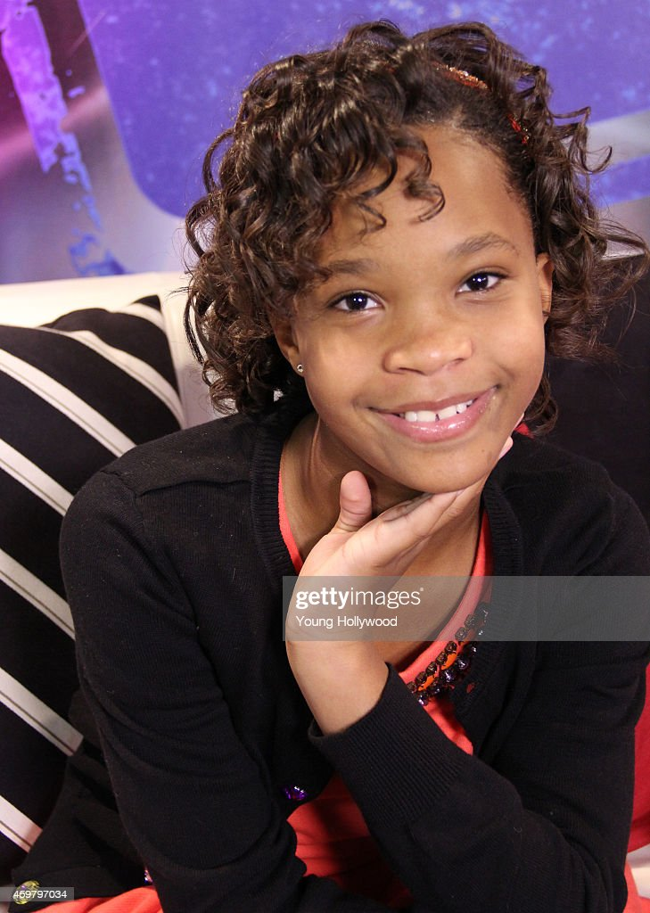 Quvenzhane Wallis Visits Young Hollywood Studio