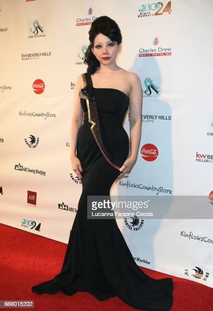 Quynh Paris attends the Santee High School Fashion Show at Los Angeles Trade Technical College on April 7 2017 in Los Angeles California