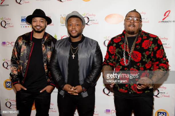 Qwanell Mosley Mike McCluney and Robert Taylor attend the '5th Annual Caroling with Q Parker and Friends' at Atlanta Marriott Buckhead on December 11...