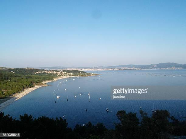 ría de vigo and barra beach - skinny dipping stock pictures, royalty-free photos & images