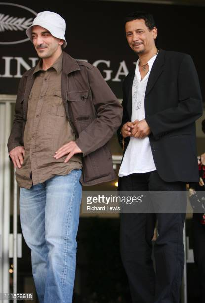 Rabah AmeurZaimeche and Abel Jafri during 2006 Cannes Film Festival 'Bled Number One' Premiere at Palais Du Festival in Cannes France