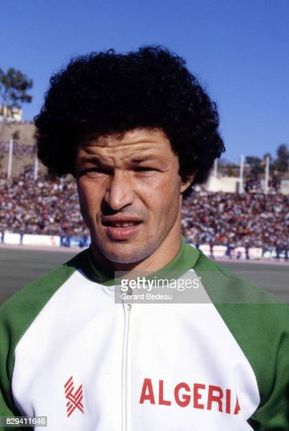 Rabah Gamouh of Algeria during the football World Cup Qualifying match between Algeria and Nigeria on 30th October 1981