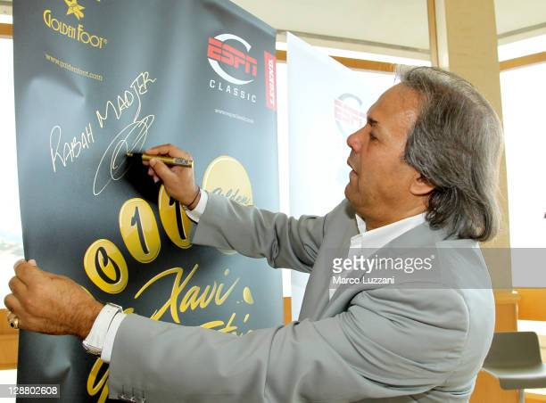 Rabah Madjer attend the Golden Foot awards previews on October 9 2011 in Monaco Monaco