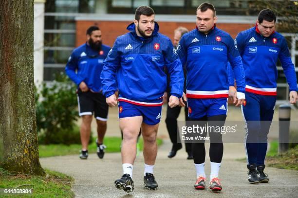 Rabah SLIMANI / Nicolas MAS / Guilhem GUIRADO Entrainement Equipe de France Photo Dave Winter / Icon Sport