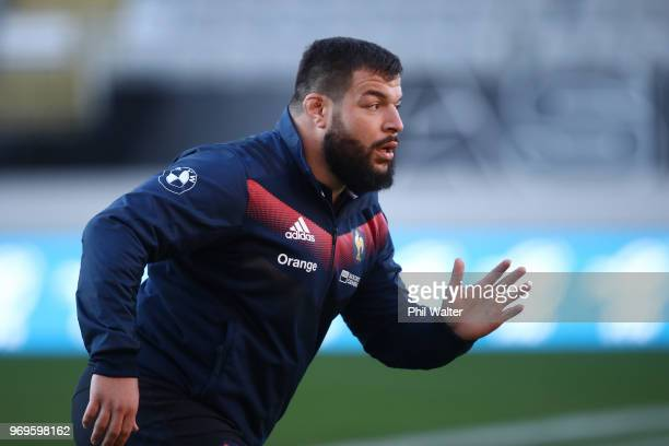 Rabah Slimani of France during the France Captain's Run at Eden Park on June 8 2018 in Auckland New Zealand