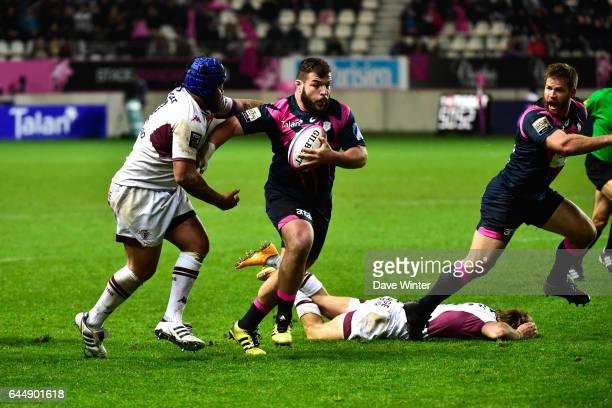 Rabah SLIMANI / Ole AVEI Stade Francais / Bordeaux Begles 10eme journee de Top 14 Photo Dave Winter / Icon Sport