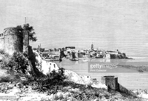 Rabat and the mouth of the BuRegrag river Morocco 1895 As seen from Sla From The Universal Geography with Illustrations and Maps division XXII...