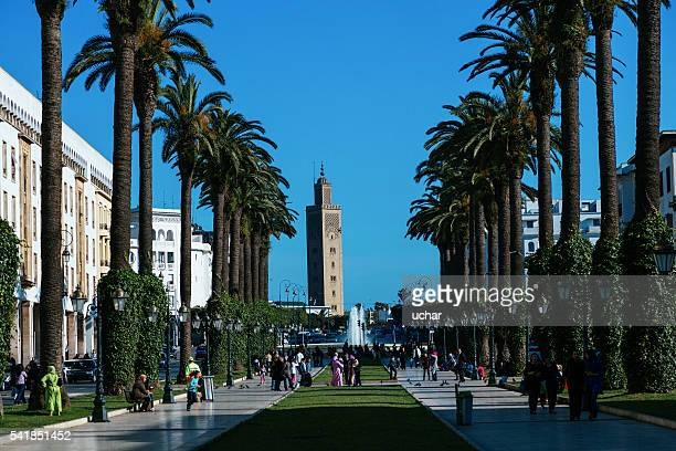 rabat, avenue mohammed v - rabat morocco stock pictures, royalty-free photos & images